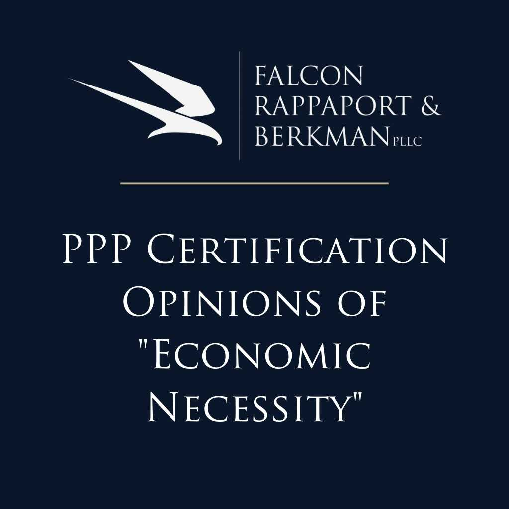 PPP Certification Opinions