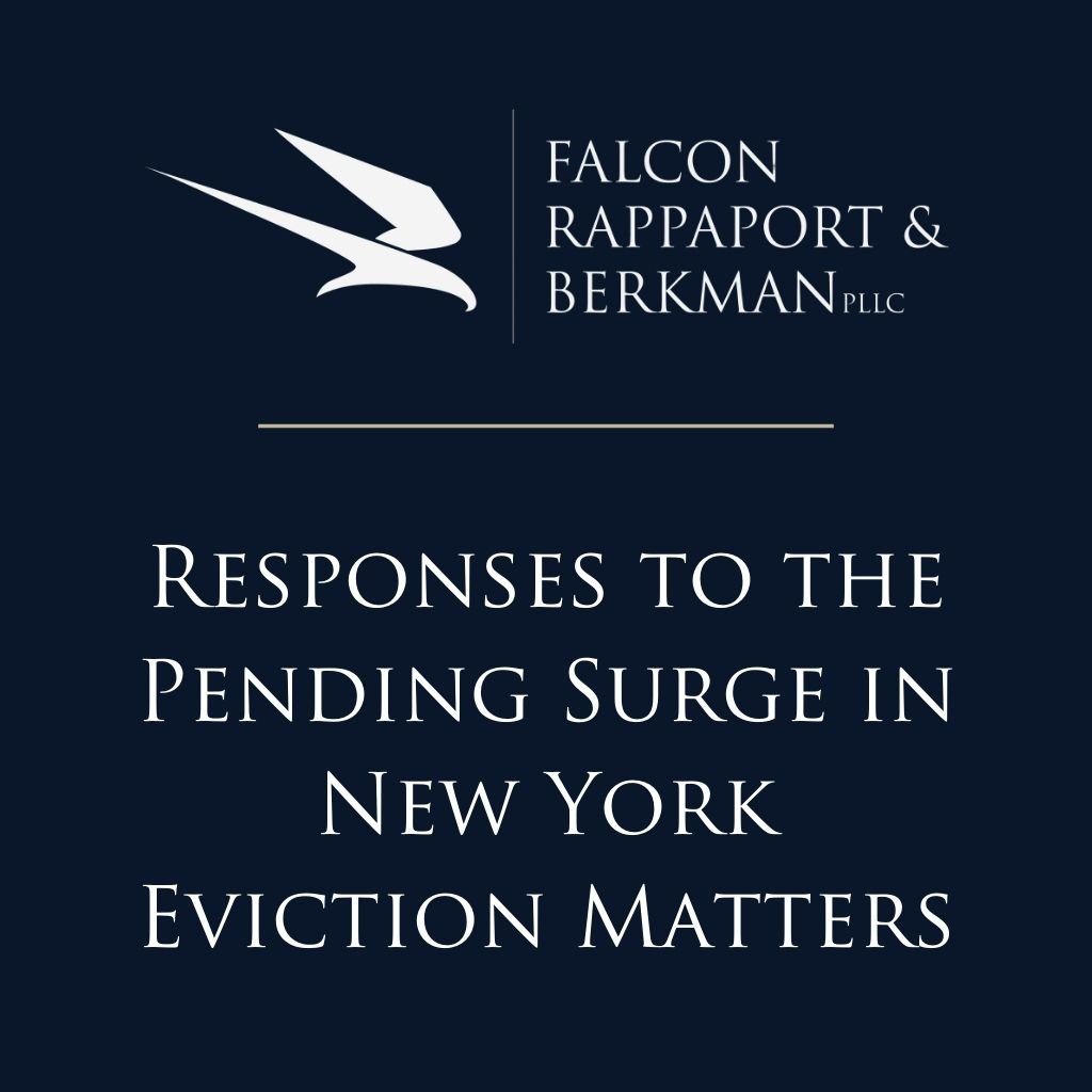 Responses to the Pending Surge in New York Eviction Matters