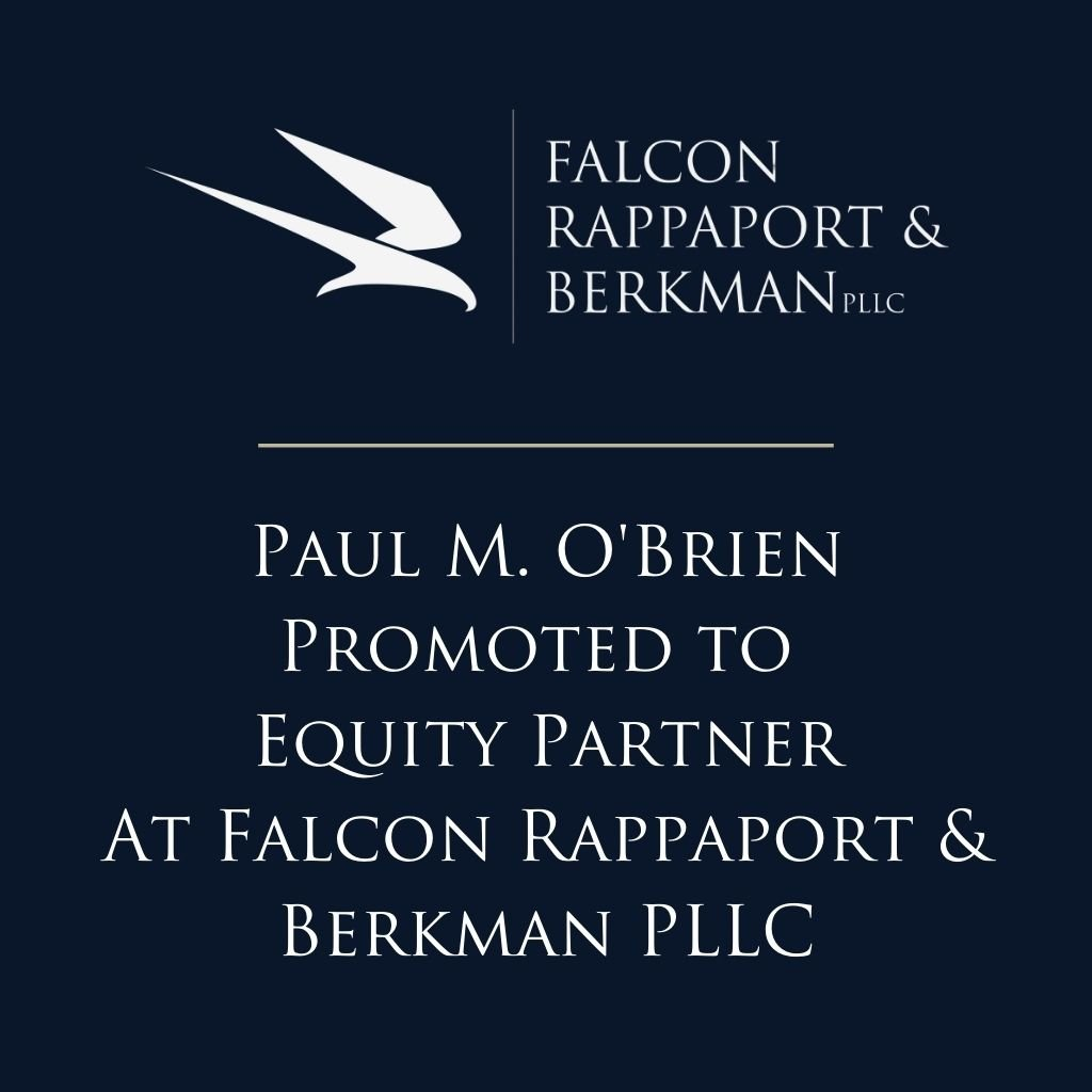Paul O'Brien Has Been Promoted to Equity Partner at FRB
